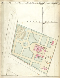 f.54v'   House and Ground at Poona in the Dukhun belonging to Major Augustus Grafton.'